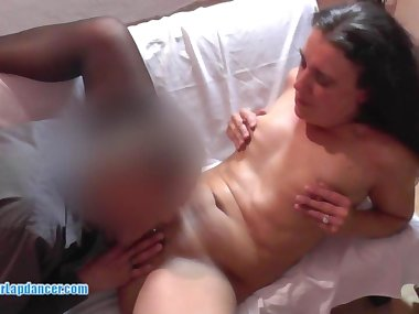 Amateur MILF in wild Blowjob and pussy licking action
